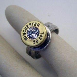 Winchester 38 Special Bullet Casing Ring, by Tasha Rae Jewelry.