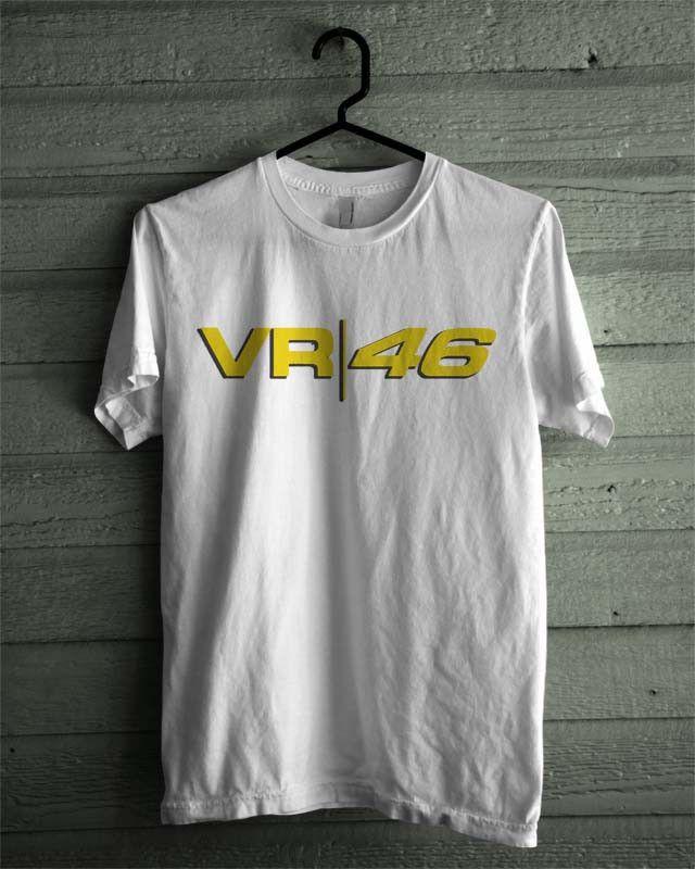 Valentino Rossi VR 46 VR46 Black and White Shirt Tshirt Tee