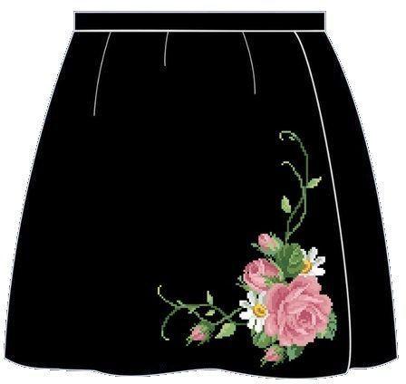 Чёрная детская юбка ЮКт-003Ч
