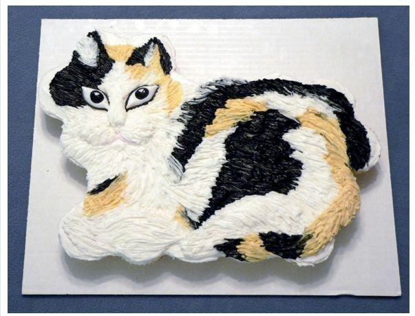 Calico Cat Cupcake Cake  Kitty Cat Birthday Cupcakes  Misha Cupcake