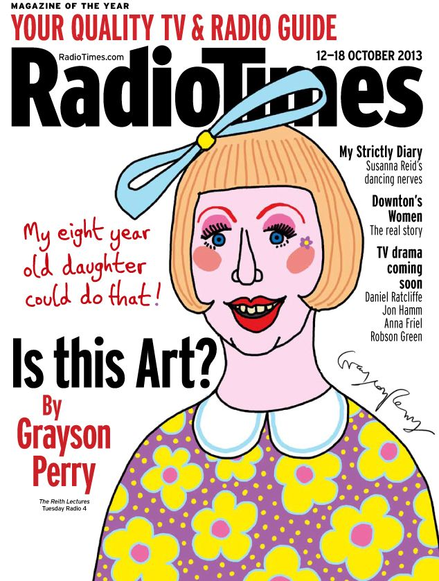 "Grayson Perry says Damien Hirst's art work is ""hackneyed"" and ""tatty"" 