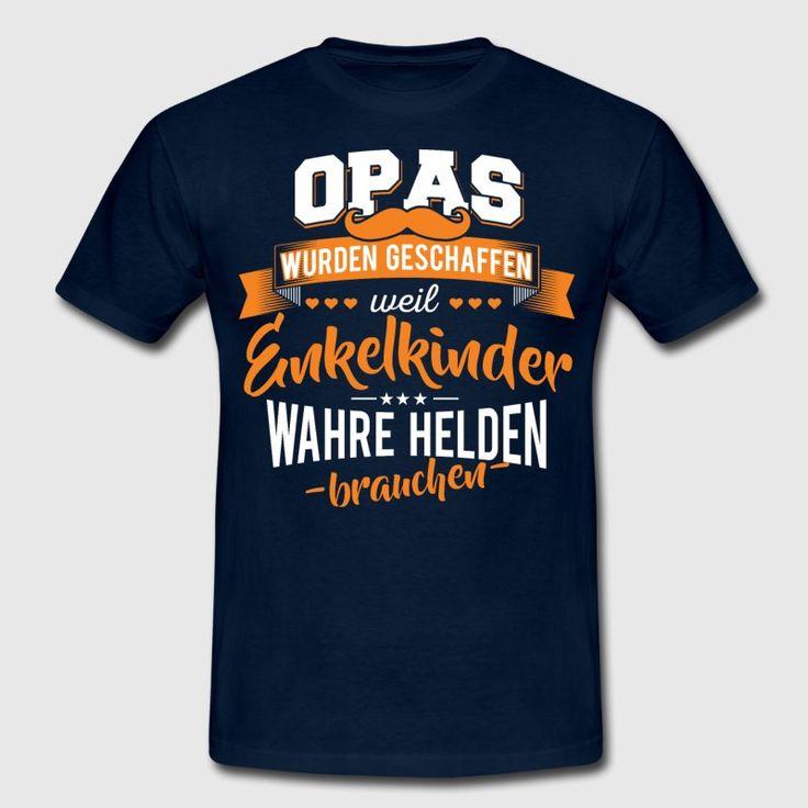 Opa Enkelkinder Helden   Männer T Shirt