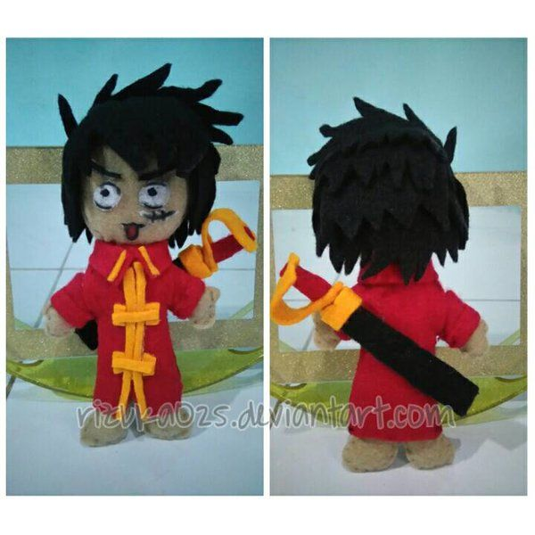 This is the first time i made plushies doll. I love handycraft also i love anime especially onepiece. All materials i used felt and detail of face i used oil painted. Honestly, i got trouble to dra...
