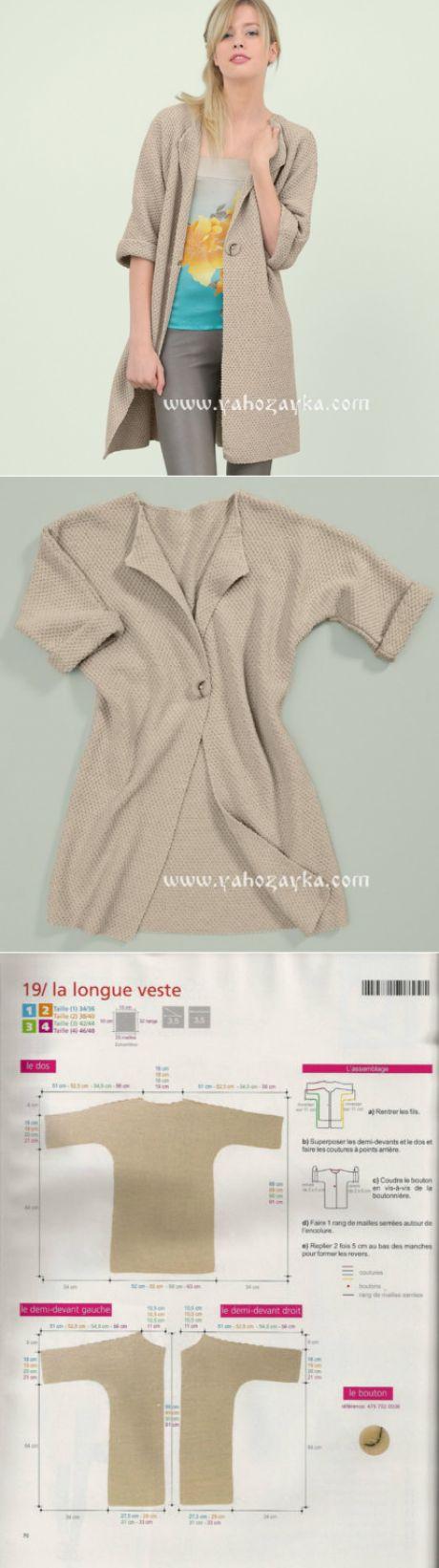 Свободный кардиган спицами плетеным узором. Схема и описание вязания на спицах летнего кардигана | Я Хозяйка