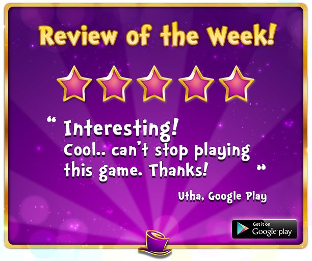 Review of the Week   Thanks Utha and to all of the other users who have taken the time to write such amazing reviews! We appreciate them all! If you haven't already, please check out our brand new Kash Karnival Android App and write a review. We would love to hear from you