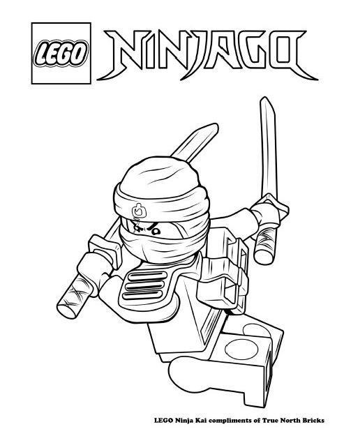 coloring page - ninja kai - true north bricks in 2020