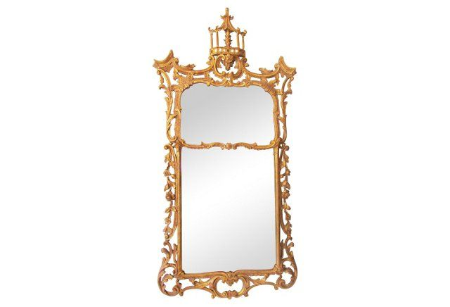 Pagoda Chippendale-Style Mirror