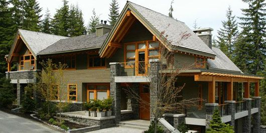 28 best images about modern mountain home on pinterest for Mountain top house plans