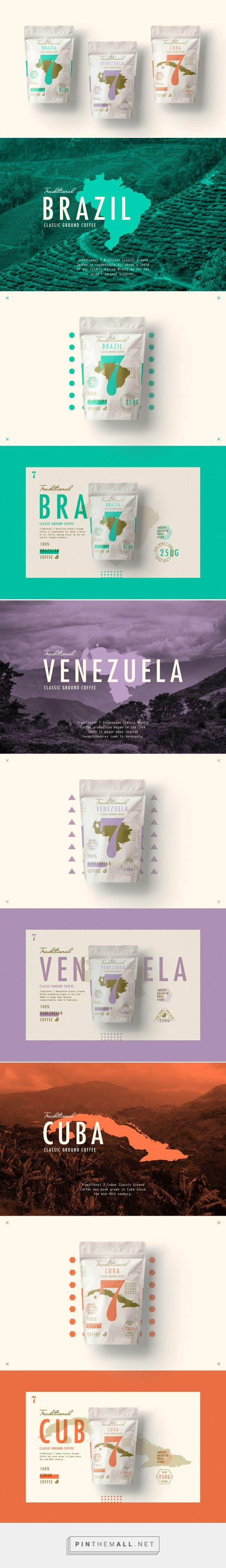 Traditional 7 Coffee packaging design by STUDIOJQ - http://www.packagingoftheworld.com/2016/09/traditional-7-coffee.html