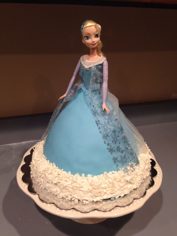 Frozen cakes doll video party invitations ideas