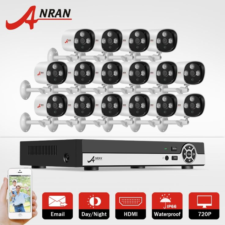 562.01$  Know more - http://ai52z.worlditems.win/all/product.php?id=32788003476 - ANRAN 16CH CCTV Camera System 1080N HDMI DVR AHD Set P2P 1.0 MP 1800TVL IR Outdoor Home Security Camera System Surveillance Kit