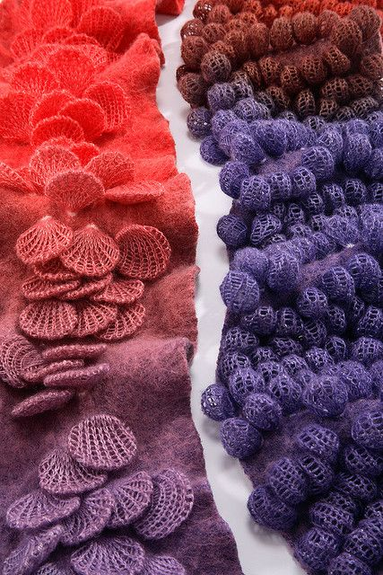 Jeung Hwa Park - I like the use of colours in these these textile scarfs by designer Jeung Hwa Park.