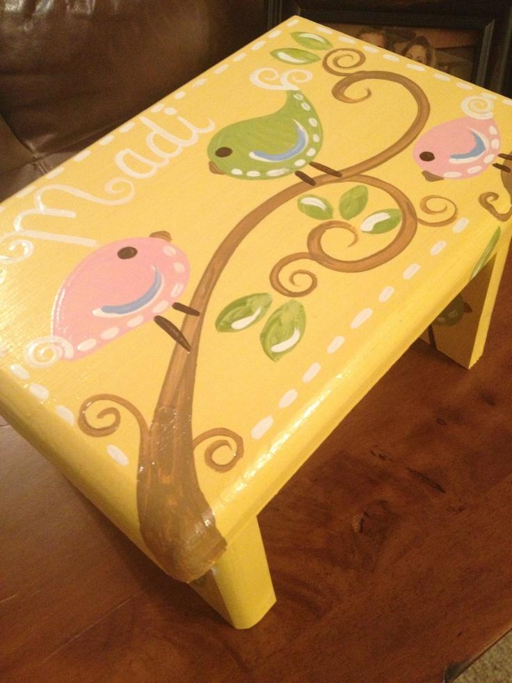 Light Green Square Owl Step Stool - Brooke Owl - Custom Customize - Bedroom Bathroom Decoration & 112 best My Art (Melanie Lupien: Two Little Monkeys) images on ... islam-shia.org
