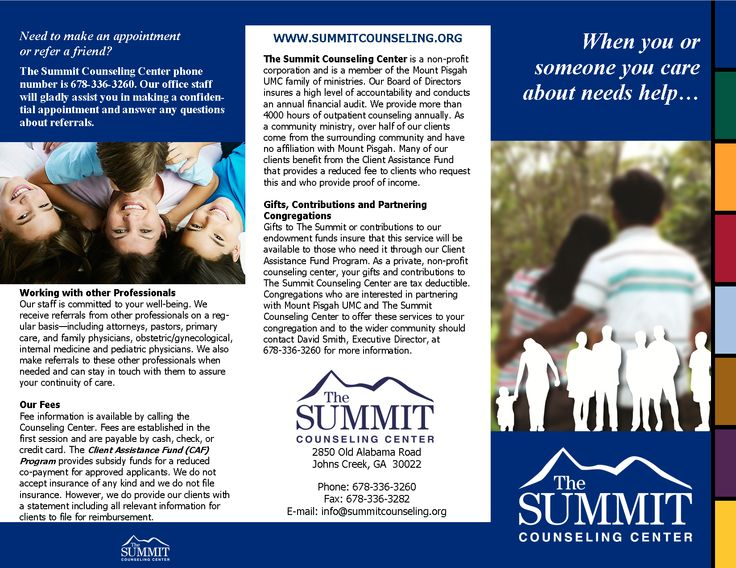 Summit Counseling Center General Brochure Brochure