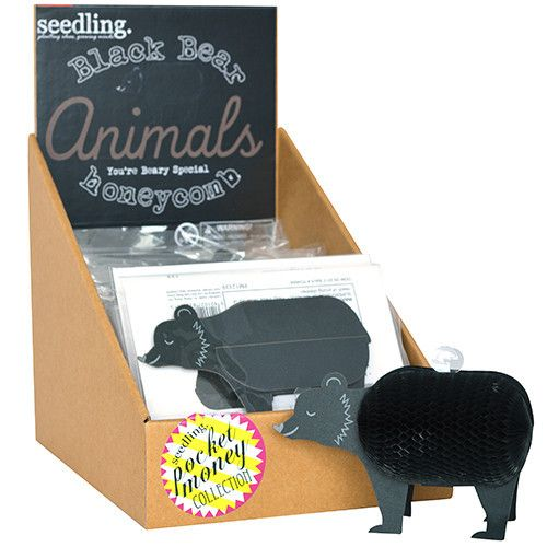 Black Bear - Honeycomb Animals #animal #animals #bear #bears #card #cards