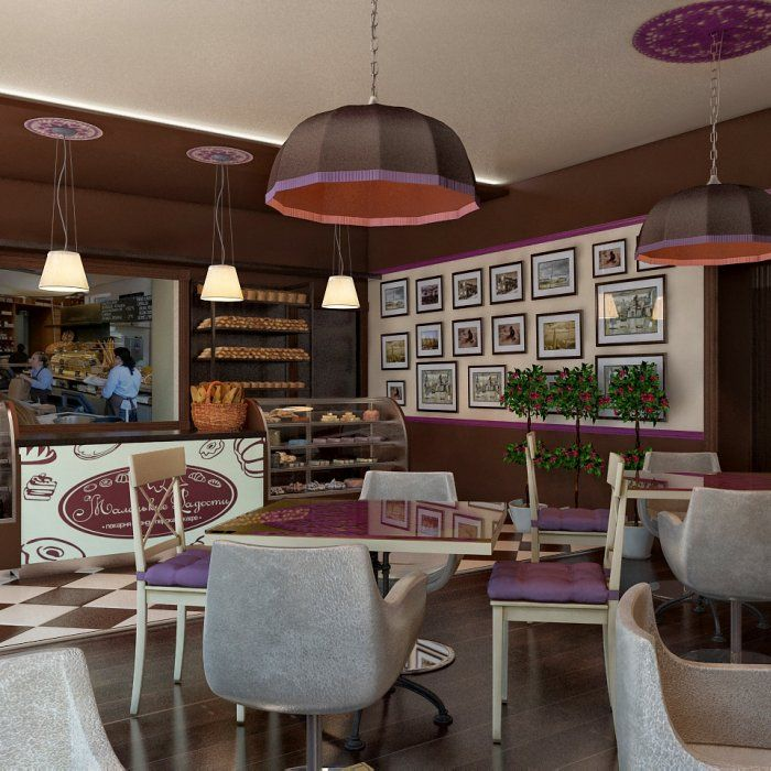 Подвесные светильники в мини-пекарни «Маленькие радости» в Москве