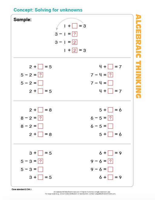 55 best printables and ebooks images on pinterest calculus math solving for unknowns with simple numbers to drill in the concept drillnumbersebooksmathhomeschooldrill fandeluxe Choice Image