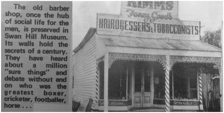 Barber Shop. Swan Hill Victoria Australia.