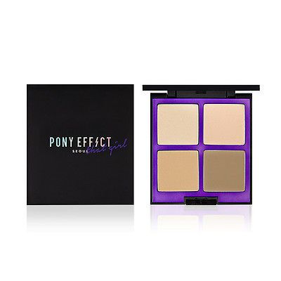 Makeup Artist Pony's Brand. Pony Effect Seoul That Girl Luminous Contouring Palette. 4 Shades for highlighter and shading.
