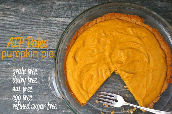 The best Paleo AIP Pumpkin Pie - just in time for Thanksgiving!!