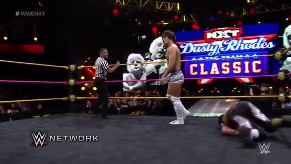 Kota Ibushi is ALL BUSINESS as he looks to slow the momentum of both Lince Dorado and Mustafa Ali in the WWE NXT Dusty Classic on WWE Network!