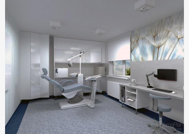 Gabinet stomatologiczny | Projektowanie wnętrz, architekt wnętrz Poznań