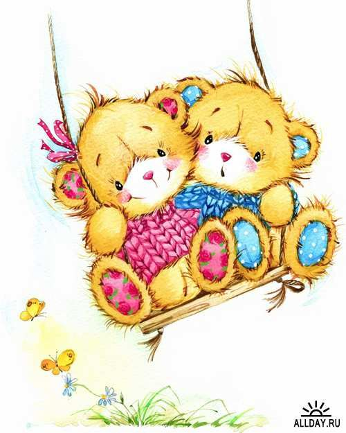 Illustration of teddy bear soft toys - 25 HQ Jpg