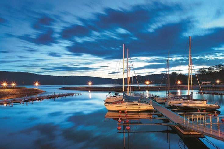 Evening at LIpno (South Bohemia), Czechia #lake #Czechia #VisitCzechia