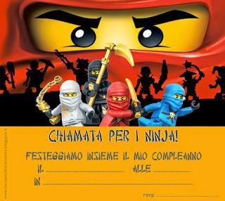 Invito di compleanno ninjago Lego da stampare gratis
