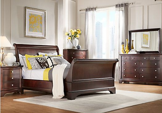 Shop for a Whitmore Cherry Sleigh 8 Pc King Bedroom at Rooms To Go. Find Bedroom Sets that will look great in your home and complement the rest of your furniture.