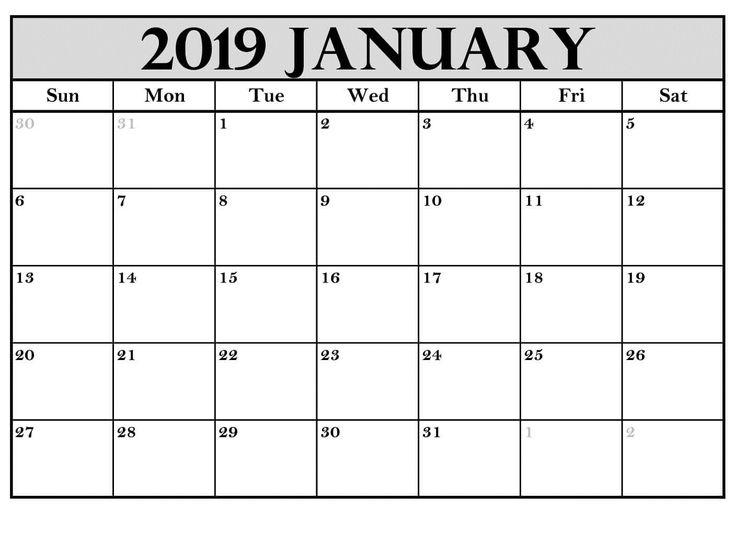Printable January 2019 Calendar Australia Free Printable February