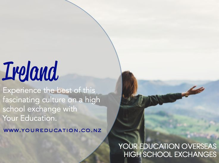 Experience the best of Ireland by going on a high school exchange with Your Education.
