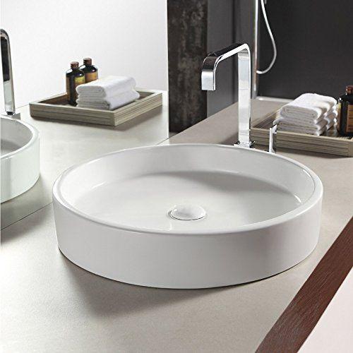Vasque à poser Ronde, 51x10cm, Céramique, Fame Rue du Bain à 120€ https://www.amazon.fr