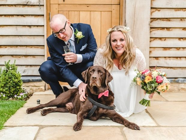 An English garden party at The Barn at Upcote and a very cute dog!