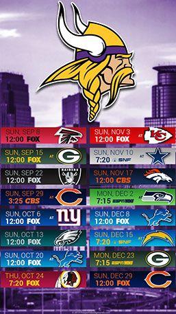 Minnesota Vikings 2019 Mobile City NFL Schedule Wallpaper