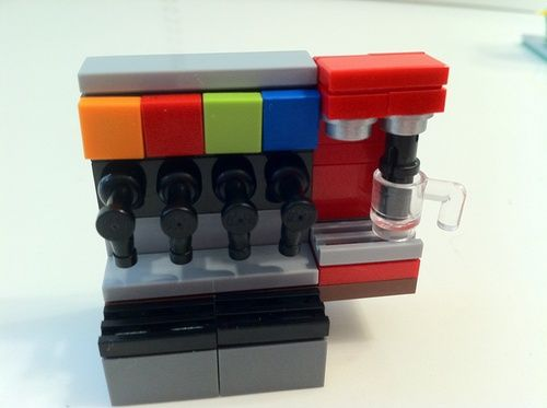 Downtown Corner Gas Station: A LEGO® creation by Joshua R. : MOCpages.com