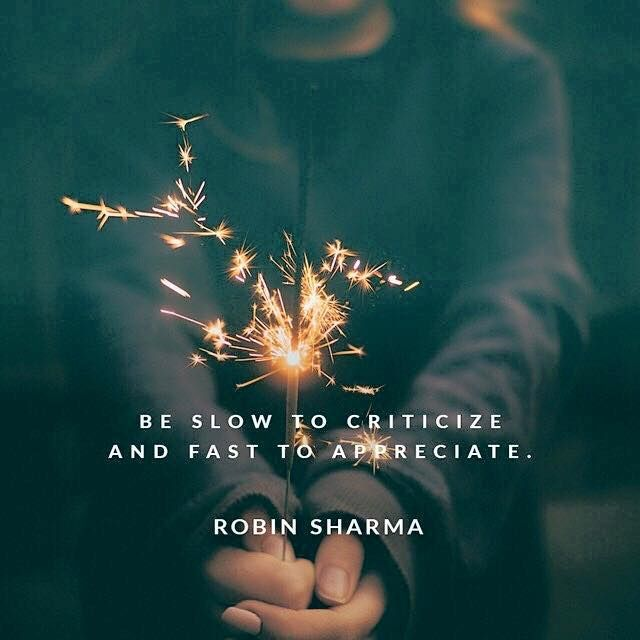 Positive Quotes :    QUOTATION – Image :    Quotes Of the day  – Description  Be slow to criticize and fast to appreciate.  Robin Sharma | ThinkPozitive.com  Sharing is Power  – Don't forget to share this quote !  - #Positive https://hallofquotes.com/2017/09/26/positive-quotes-be-slow-to-criticize-and-fast-to-appreciate-robin-sharma-thinkpozitive-com/