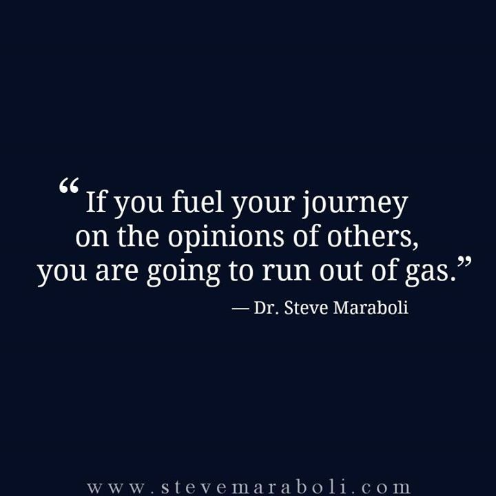 Be fueled from within...steer clear of compareitis. As well sourcing your truth from outside of you.