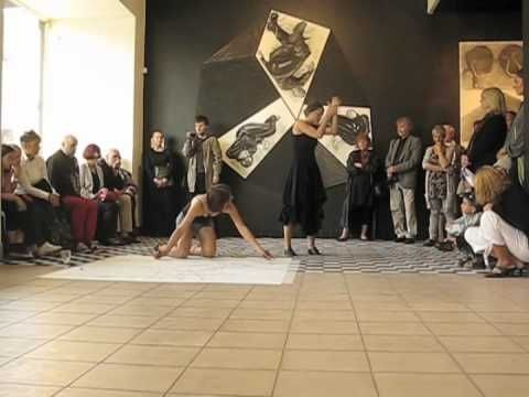 Live Drawing and Dance Response to visual art: Laura Kvelstein and Jaanika Peerna - YouTube