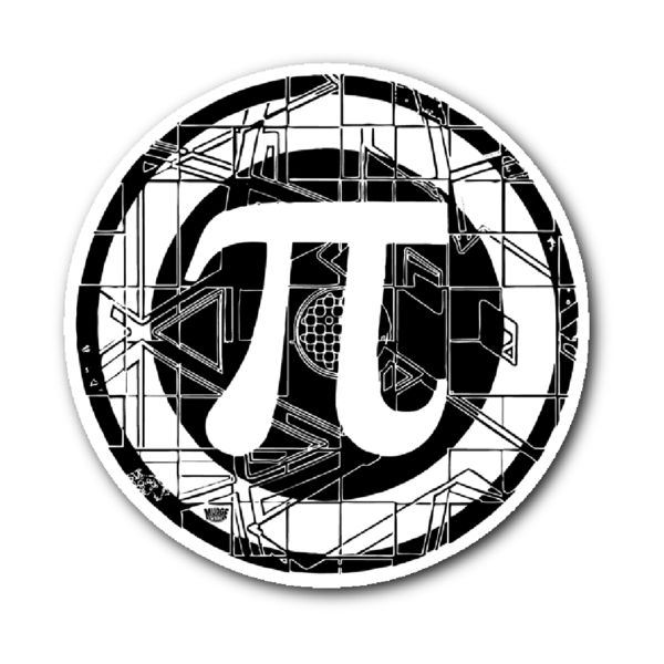 Pi Symbol Pi Day Design by Mudge Studios featuring Our Cool Pi Symbol for Math Teachers, Math Nerds, Geeks and Math Lovers of All Ages. Our Sticker is 3x4 inches.