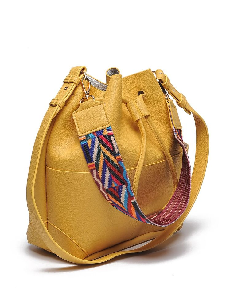 Top Secret żółta torba typu worek yellow bucket bag