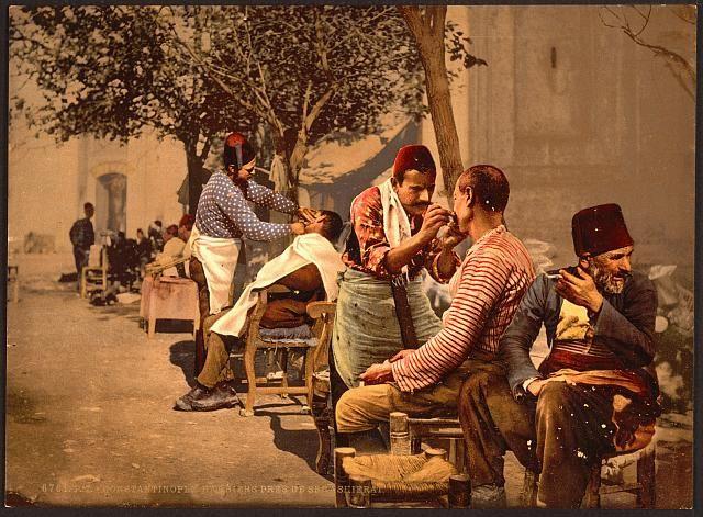 Barbers old Istanbul circa 1890-1900.