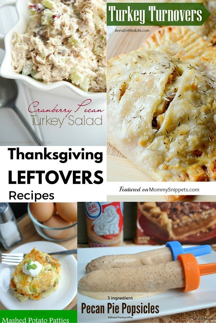 Thanksgiving Leftovers Recipes on MommySnippets.com