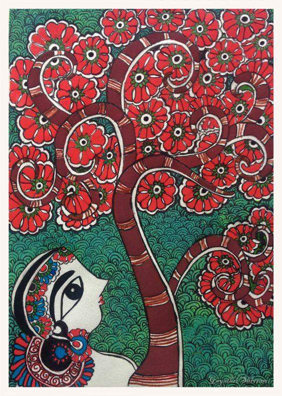 My Madhubani Art - Tree of Life (Original Painting by Bharti Dayal)