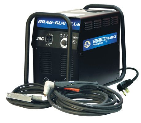 Thermal Dynamics Drag-Gun 35C plasma cutter with built in compressor
