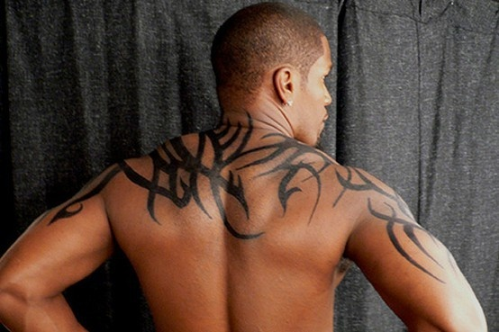Free hand tattoo on Jamie Foxx
