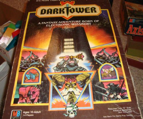 ✈Vintage DARK TOWER Board Game WORKING MB 100 % Complete Tested works Great