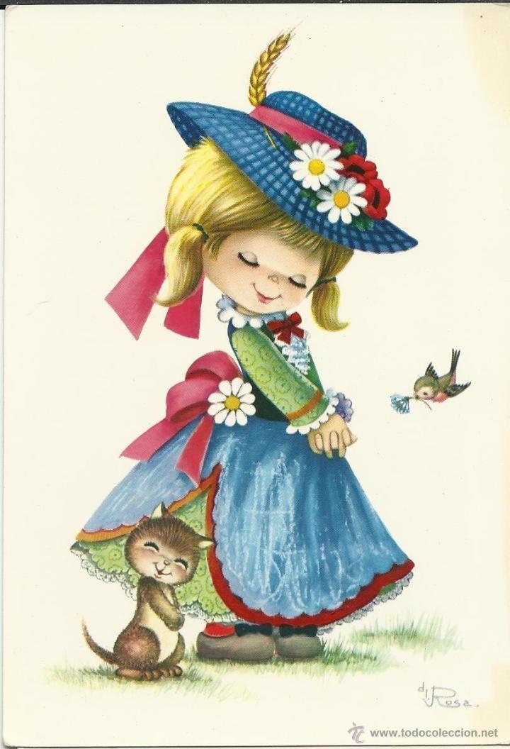 1000 ideas sobre postales antiguas en pinterest - Ilustraciones infantiles antiguas ...