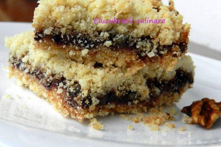 Simplu si delicios - Rețetă Desert : Prăjitură cu gem și nucă - rețetă de post de Elucubratiiculinare