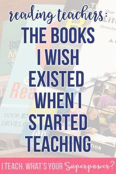 The books I wished I had when I was a beginning reading teachers and just learning how to teacher kids to read.